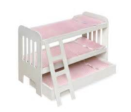 Baby Doll Bunk Bed Badger Basket Trundle Doll Bunk Beds With Ladder By Oj Commerce 01857 35 59