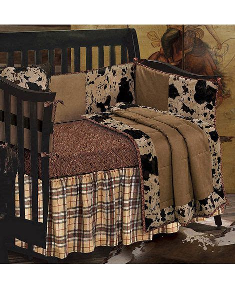 cowhide comforter set cowhide crib set western living pinterest crib sets