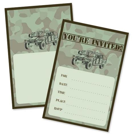 free printable birthday invitations army army party invitations from printabletreats com army