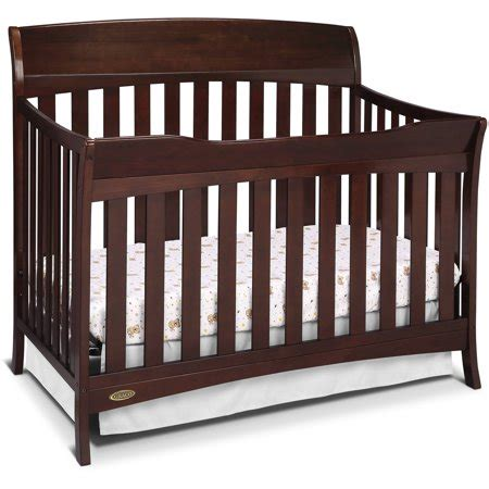 graco lennon 4 in 1 convertible crib espresso walmart