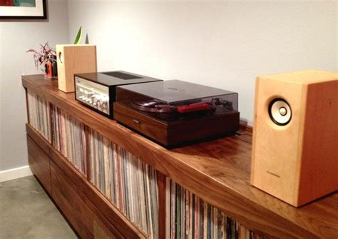 diy record player cabinet stereo racks and stands foter