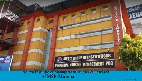 Mba In Systems Colleges In Mumbai by Aimsr Mumbai Aditya Institute Of Management Studies Research