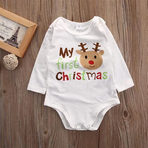 new year baby clothes newborn baby boy clothes infant deer print