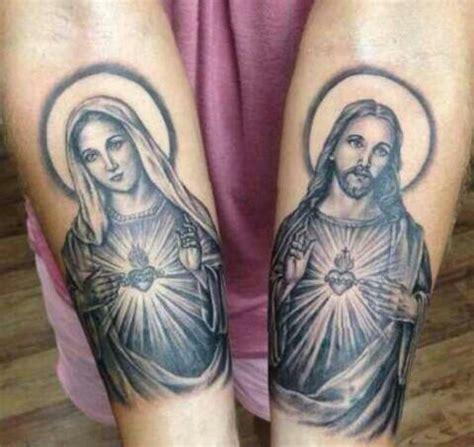 tattoo maria und jesus la vierge marie j 233 sus christ mes amours pour toujours