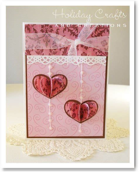 Handmade Valentines Card - cards 3d hearts