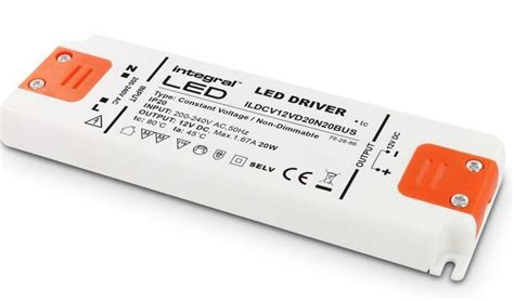 20w led driver 12v constant voltage non dimmable integral