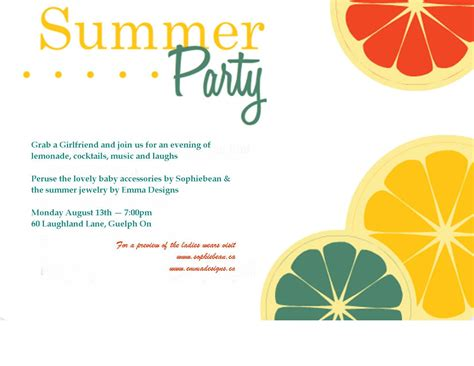 summer templates summer invitation template summer invitation