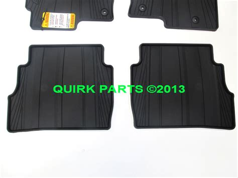 Mazda Cx 5 All Weather Mats by 2013 2016 Mazda Cx 5 All Weather Black Floor Mats Rubber 4