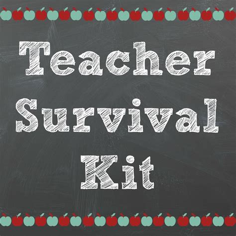 survival kit template back to school supply kit without answers