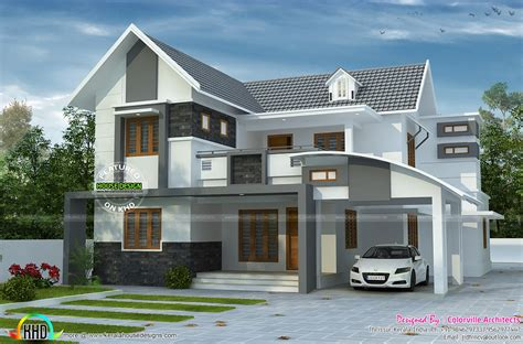 home parapet designs kerala style house plan by colorville architects kerala home design