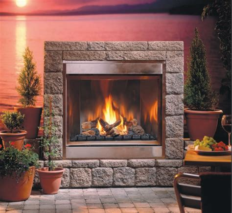 Outdoor Ventless Fireplace by Montigo H Series Outdoor Ventless Fireplaces
