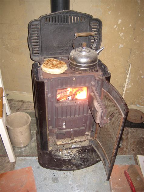 Stove found in the old stall behind the house coal burning stove