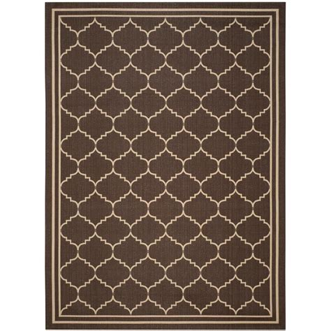 8 foot indoor outdoor rugs safavieh courtyard chocolate 8 ft x 11 ft indoor outdoor area rug cy6889 204 8 the
