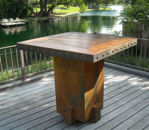 backyard tables bentintoshape net announces eco friendly sinker cypress patio and garden table collection