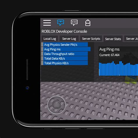 developer console developer console is now optimized for mobile roblox