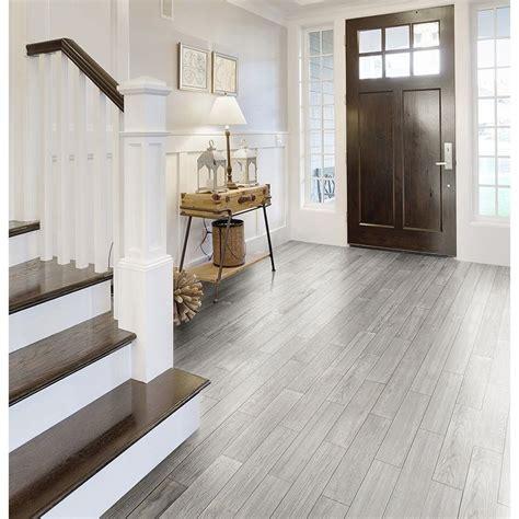 style selections eldon white wood  porcelain floor