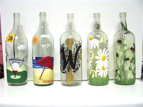 simplybcreative painted wine bottles
