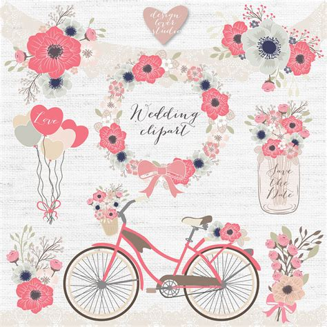 Animasi Wedding Png by Vector Rustic Wedding Clipart Bicycle Clipart Shabby