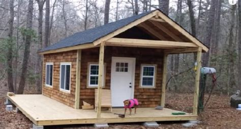 diy cabin you can do this diy tiny cabin in the woods project