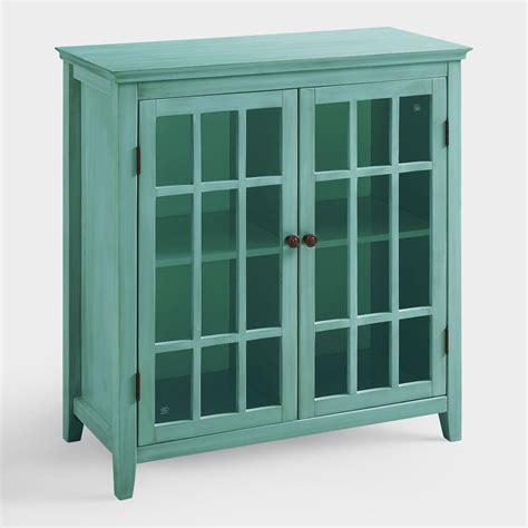 Antique Storage Cabinet Antique Turquoise Door Storage Cabinet World Market