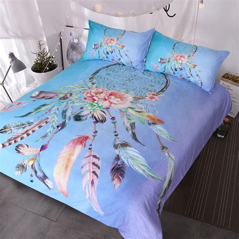 dreamcatcher comforter blessliving big dreamcatcher colors bedding 3 piece dream