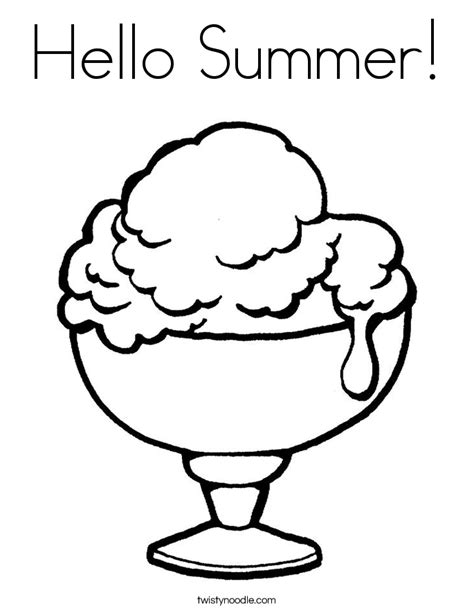 summer ice cream coloring pages hello summer coloring page twisty noodle
