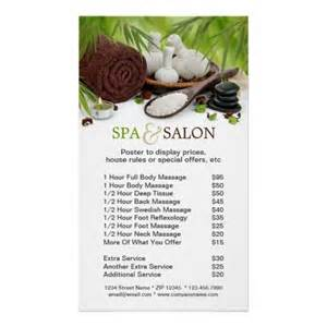Spa Menu Of Services Template by Spa Salon Menu Of Services Poster
