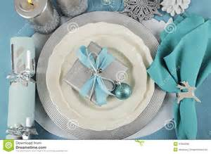place settings christmas table place settings in aqua blue silver and