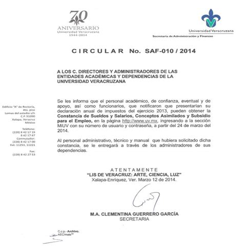 constancia de sueldos y salarios circular saf 010 2014 impresi 243 n constancia de sueldos y