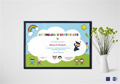 student certificate templates for word school students attendance certificate design template in