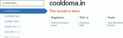 find unconventional domain names  delicious