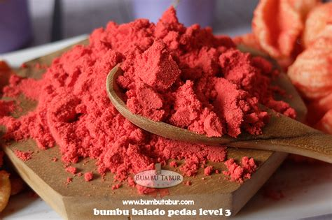 Bumbu Tabur Seasoning Powder Sambal Balado 2 balado pedas level 3 bumbu tabur bumbu snack bumbu keripik seasoning powder