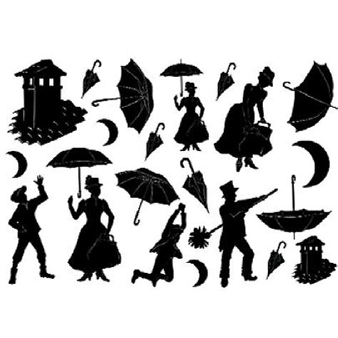 Minis 20153 54 Neon Bert softpaper quot poppins silhouettes quot 50 x 70cm hobby chemaco