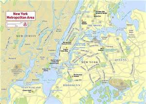 Map Of New York City Suburbs by Detailed Area Map Of New York City New York City Detailed