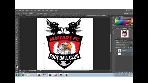 membuat logo club bola  photoshop youtube