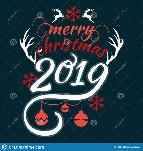merry christmas  happy  year     lettering text logo  black