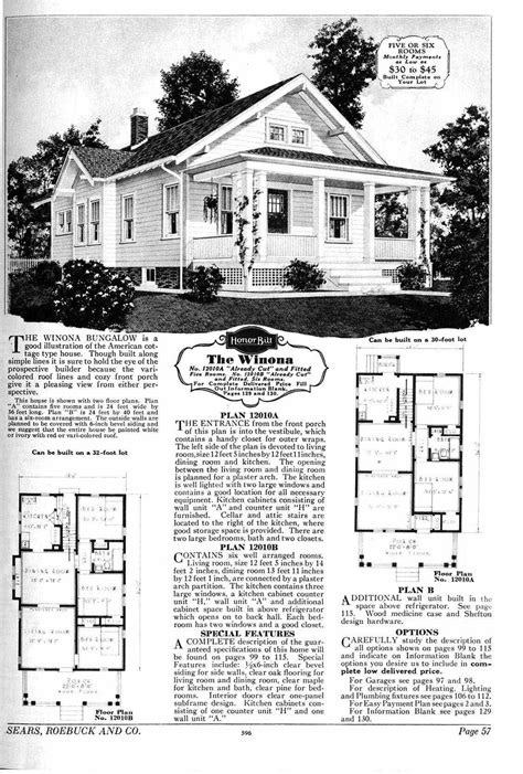 sears kit homes floor plans house plans from the 1930s 1930s sears house plans early