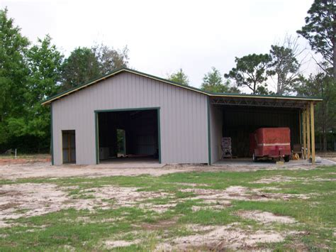 garage barn large drive in doorway for equipment maintenance and