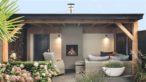 in veranda stijlvolle veranda met openhaard