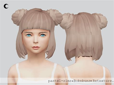 sims 4 half have hair lana cc finds kalewa a ts4 bob n buns child a hair