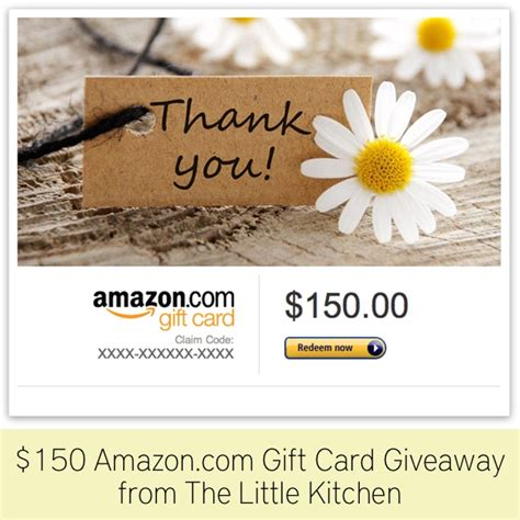 150 Amazon Gift Card - 150 amazon com gift card giveaway the little kitchen