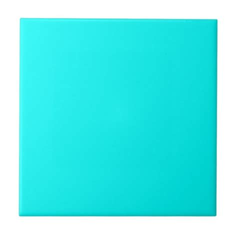 neon blue teal light bright fashion color trend tile zazzle
