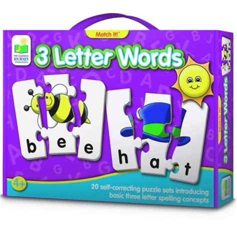 Puzzle Match It Spelling 3 letter words spelling match it puzzle educational