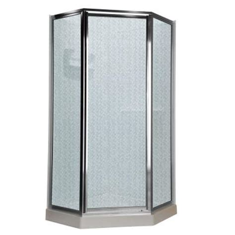 American Standard Neo Angle Shower Door by American Standard Prestige 24 25 In X 68 5 In Neo Angle Shower Door In Silver And Hammered