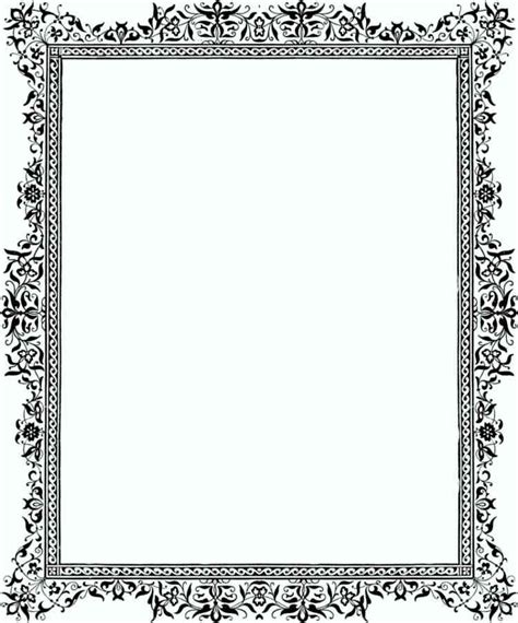 free a4 templates a4 paper border designs free template update234