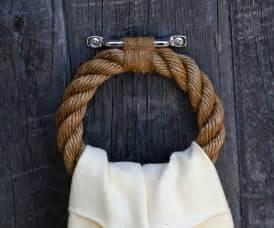 Nautical rope towel ring manila and hemp