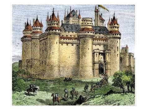 Knights Entering A Castle In The Middle Ages Giclee Print
