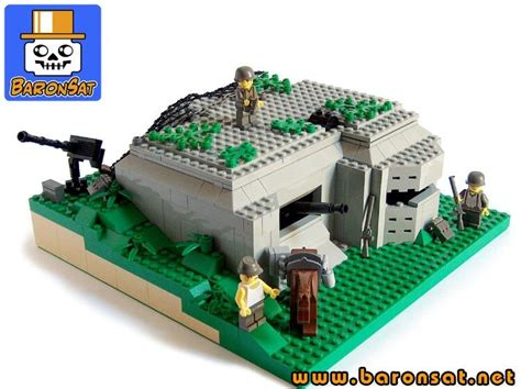 lego base tutorial lego ww2 bunker i like the landscaping on this lego
