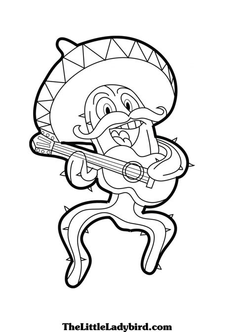 mexican coloring pages for kids az coloring pages
