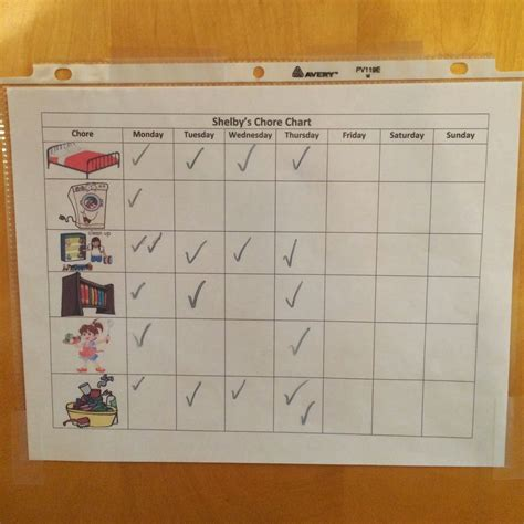 make your own chart 8 best images of make your own chore chart printable free